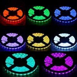 12V IP68 RGB (Vandtæt) 14W/m RGB vandtæt LED strip - 5m, IP68, 60 LED pr. meter