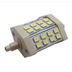 5w.r7s.cw: 5w LED pære til projektør, R7S, kold hvid