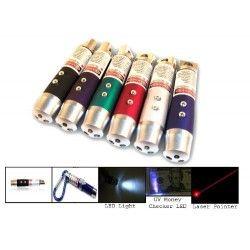 3 i 1 - Laserpointer, lommelygte og UV lampe