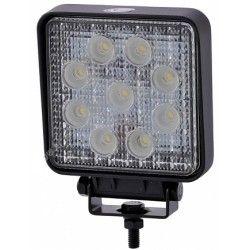 LED Projektør 27W LED arbejdslampe - Bil, lastbil, traktor, trailer, udrykningskøretøjer, kold hvid, 12V / 24V