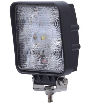 15W LED arbejdslampe - Bil, lastbil, traktor, trailer, udrykningskøretøjer, kold hvid, 12V / 24V