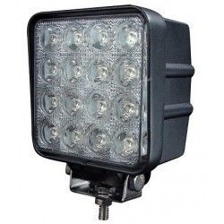 LED Projektør 48W LED arbejdslampe - Bil, lastbil, traktor, trailer, udrykningskøretøjer, kold hvid, 12V / 24V
