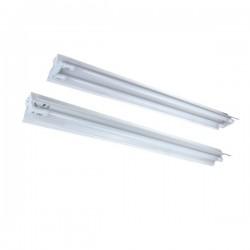 Alpha LED T8 armatur - 2x 120 cm rør, åben armatur
