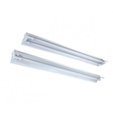 RESTSALG: Alpha LED T8 armatur - 2 x 120cm rør, åben armatur