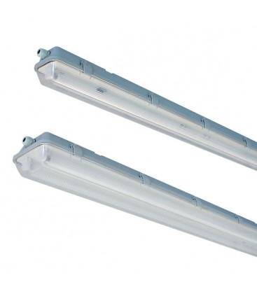 Vento T8 LED armatur - Til 2x 120cm LED rør, IP65 vandtæt