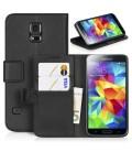 Samsung Galaxy S5 Mini. Lækkert etui med kreditkort holder. Stander funktion.