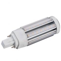 GX24D LED pære - 9W, 360°, varm hvid, mat glas