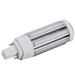 GX24D LED pære - 9W, 360 grader, varm hvid, mat glas