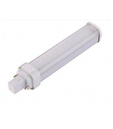 G24D LED pære, 230v, 11w, materet glas, Varm hvid