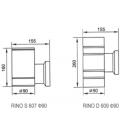RINO110 S Væglampe - 1x E27 lampe