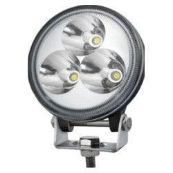 LED Projektør 9W LED arbejdslampe - Bil, lastbil, traktor, trailer, udrykningskøretøjer, kold hvid, 12V / 24V