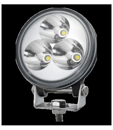 9W LED arbejdslampe - Bil, lastbil, traktor, trailer, udrykningskøretøjer, kold hvid, 12V / 24V