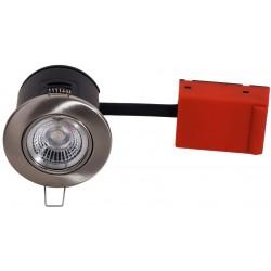 Daxtor Easy 2-Setup indbygningsspot - Børstet stål, godkendt i isolering