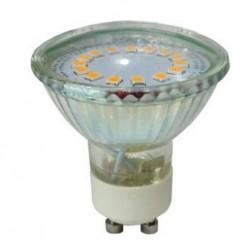 V-Tac 3W GU10 LED spot - Kold hvid, 230v, 200lm, 110 grader, glas hus