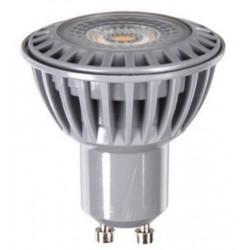 V-Tac 6W GU10 LED spot - 110 grader, 450lm, 230v, gråt hus