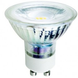 V-Tac 5W GU10 LED Spot - 230v, 320lm, 38 grader, glas hus