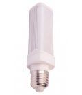 6W E27 LED Tube-pære - 230v, 485lm, 120 grader