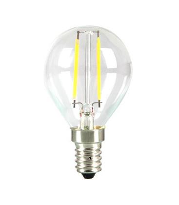 LEDlife 2W LED krone pære - Kultråd, P45, varm hvid, E14
