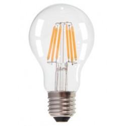 V-Tac 6W E27 LED pære - Kultråd LED, Varm hvid, 2700k, A60