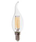 V-Tac 4W LED flamme pære - Kultråd, varm hvid, E14