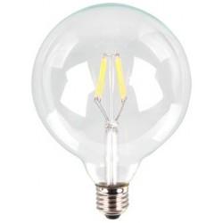 VT-1983: V-Tac 6W LED globepære - Kultråd, G125, varm hvid, E27