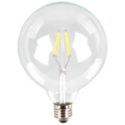 V-1983: V-Tac 6W LED globepære - Kultråd, G125, varm hvid, E27