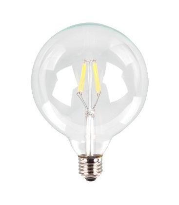 6W LED globepære - Kultråd, G125, varm hvid, E27