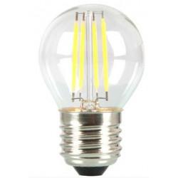 V-1980: V-Tac 4W LED krone pære - Kultråd, dæmpbar, varm hvid, E27