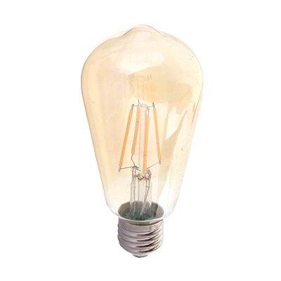 Image of   V-Tac 6W LED pære - Kultråd, røget glas, ekstra varm hvid, 2200K, ST64, E27 - Dæmpbar : Ikke dæmpbar, Kulør : Ekstra varm