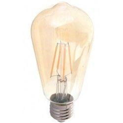E27 Stor fatning V-Tac 6W LED pære - Kultråd, røget glas, ekstra varm hvid, 2200K, ST64, E27
