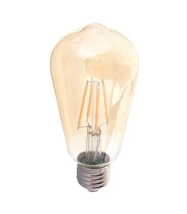 V-Tac 6w LED Kultrådspære Ekstra Varm - Røget glas, 2200k, ST64, E27