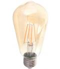 V-Tac 6W LED pære - Kultråd, røget glas, ekstra varm hvid, 2200K, ST64, E27