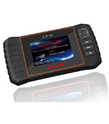 iCarsoft CP II - Citroen, Peugeot, nulstil service og bremser, multi-system scanner