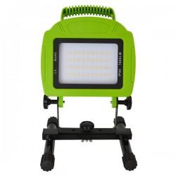 V-Tac LED projektør 20W - 12V/230V, transportabel, genopladelig, arbejdslampe, udendørs