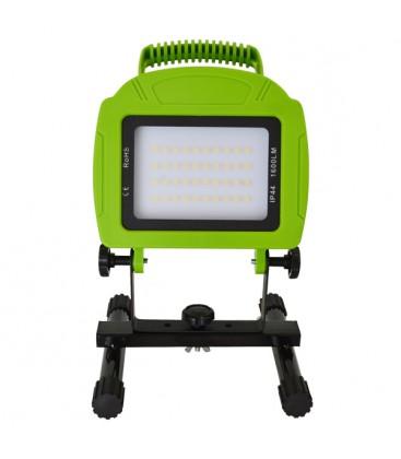 V-Tac LED projektør 20w 12v/230v - Transportabel Genopladelig