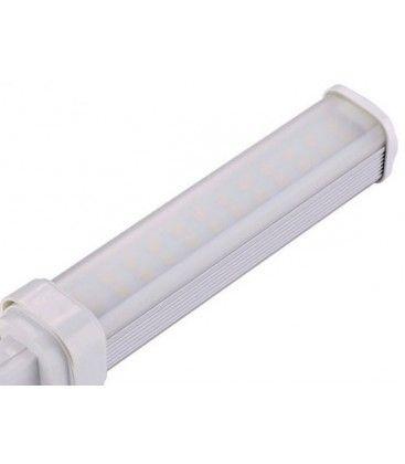G24Q LED pære, 230v, 7w, materet glas, Varm hvid