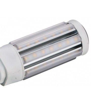 G24Q LED pære, 230v, 5w, materet glas, Varm hvid