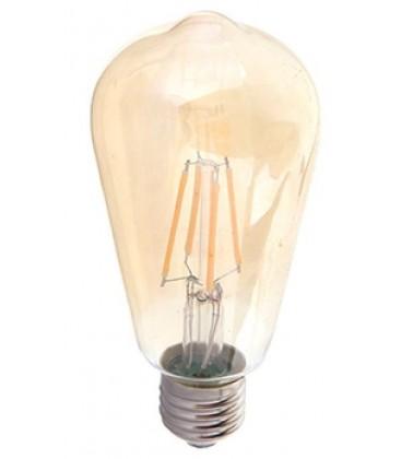 4w E27 LED Kultrådspære Ekstra Varm - Røget glas, 2200k Ekstra varm