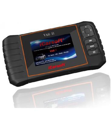 iCarsoft VAG II - Audi, VW, Seat, Skoda, nulstil service og bremser, multi-system scanner