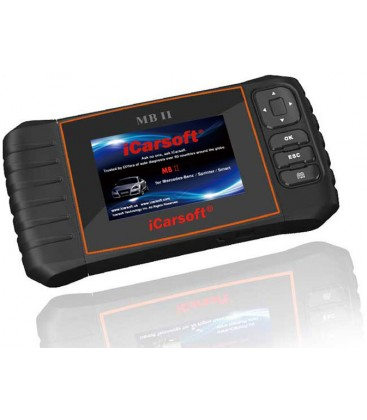 iCarsoft MB II - Mercedes Benz, Sprinter, Smart, nulstil service og bremser, multi-system scanner