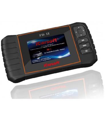 iCarsoft FD II - Ford, nulstil service og bremser, multi-system scanner