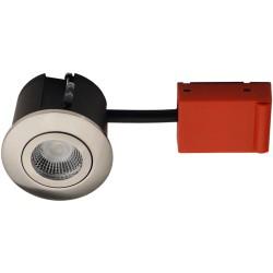 Indendørs indbygningsspots Daxtor Easy 2-Change indbygningsspot - Børstet stål, godkendt til isolering