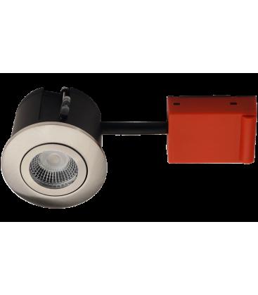 Daxtor Easy 2-Change indbygningsspot - Børstet stål, godkendt til isolering