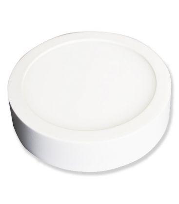 V-Tac Loft lampe / LED panel 6W - Super tynd, Diam: 9cm, Højde: 2,4cm, hvid kant