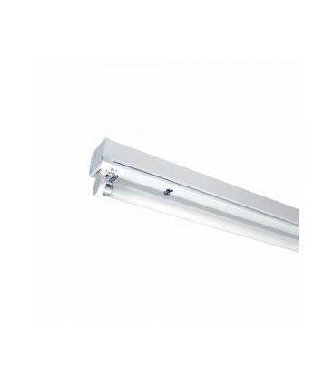 V-Tac T8 LED grundarmatur - Til 1x 60cm LED rør, IP20 indendørs