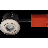 Daxtor Easy 2-Change indbygningsspot - Børstet stål, godkendt til vådrum og isolering