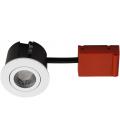 Daxtor Easy 2-Change indbygningsspot - Mat hvid, godkendt til vådrum og isolering