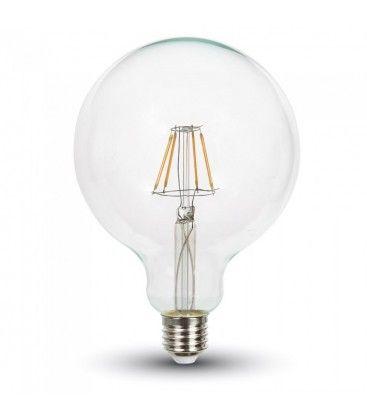 V-Tac 4W LED Globepære - Kultråds LED, Dæmpbar, Varm hvid, E27