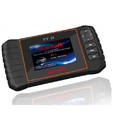 iCarsoft FT II - Fiat, Alfa Romeo, nulstil service og bremser, multi-system scanner