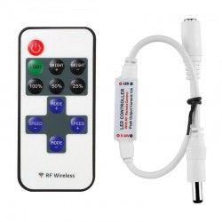 Trådløs dæmper med fjernbetjening - RF trådløs, memory funktion, 12V (30W)
